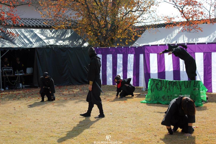 himeji-chateau-spectacle-ninja-apparition-ninja