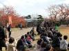 himeji-chateau-spectacle-ninja-dissimule-dans-le-publique