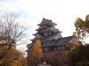 okayama-chateau-corbeau-saison-momiji-vue-cote