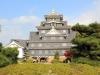 okayama-chateau-corbeau-saison-momiji-vue-face