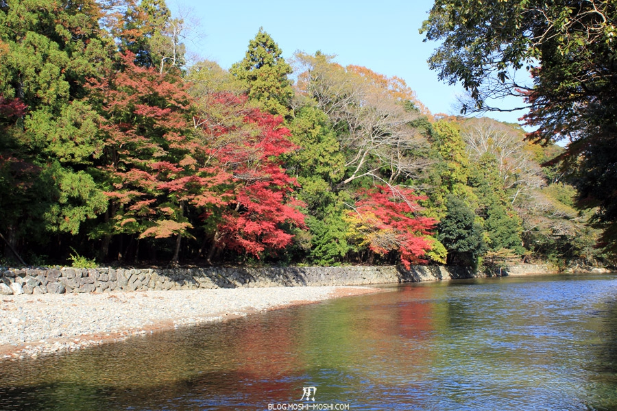 Ise-jingu-sanctuaire-interieur-naiku-riviere-isuzu-momiji