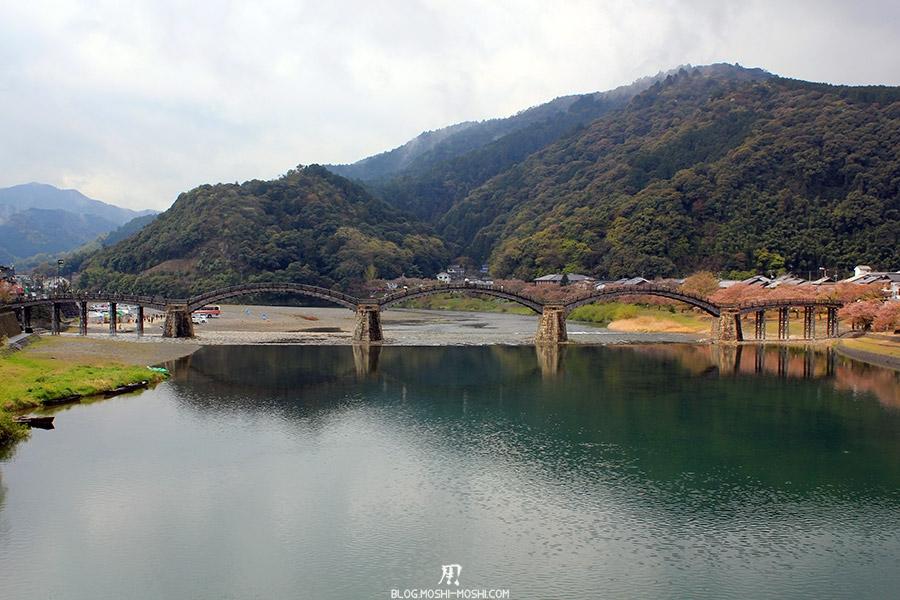 iwakuni-yamaguchi-pont-kintai-riviere-nishiki-vue-face