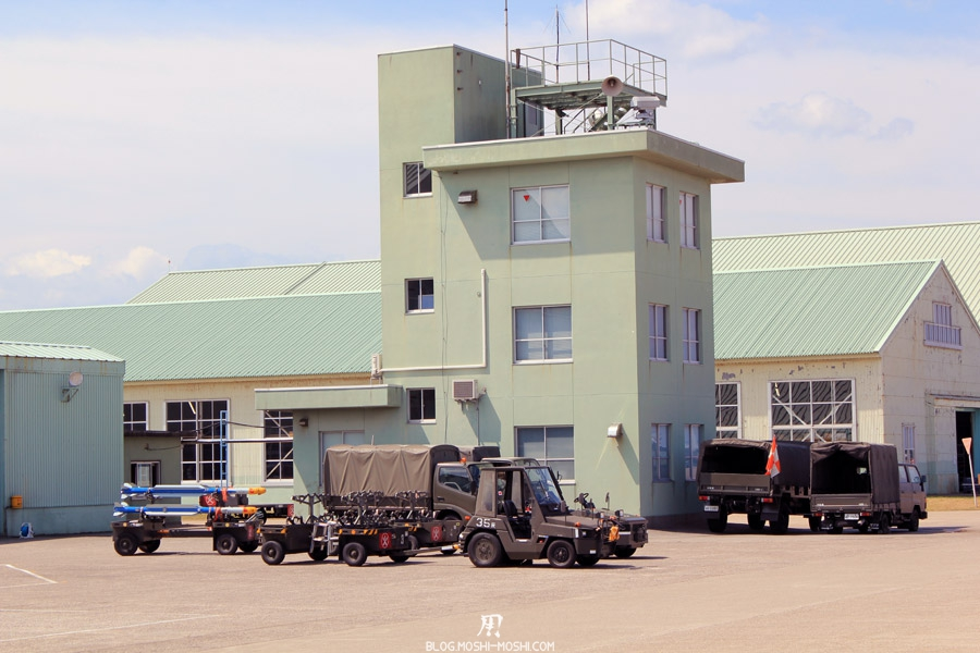 base-militaire-Japon-Komatsu-air-rescue-force-engin-rockets-batiments