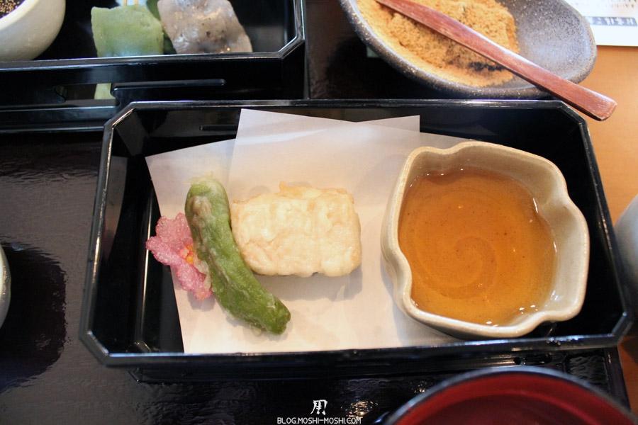 arashiyama-kyoto-restaurant-sagatofu-menu-tofu-detail-tempura