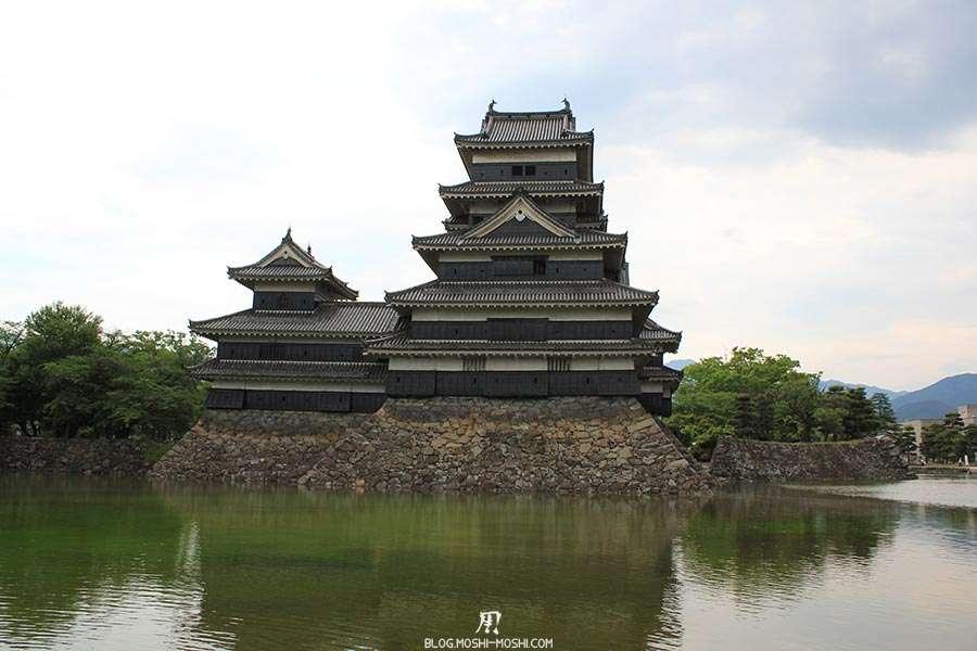 nagano-chateau-matsumoto-corbeau-noir-cote-gros-plan