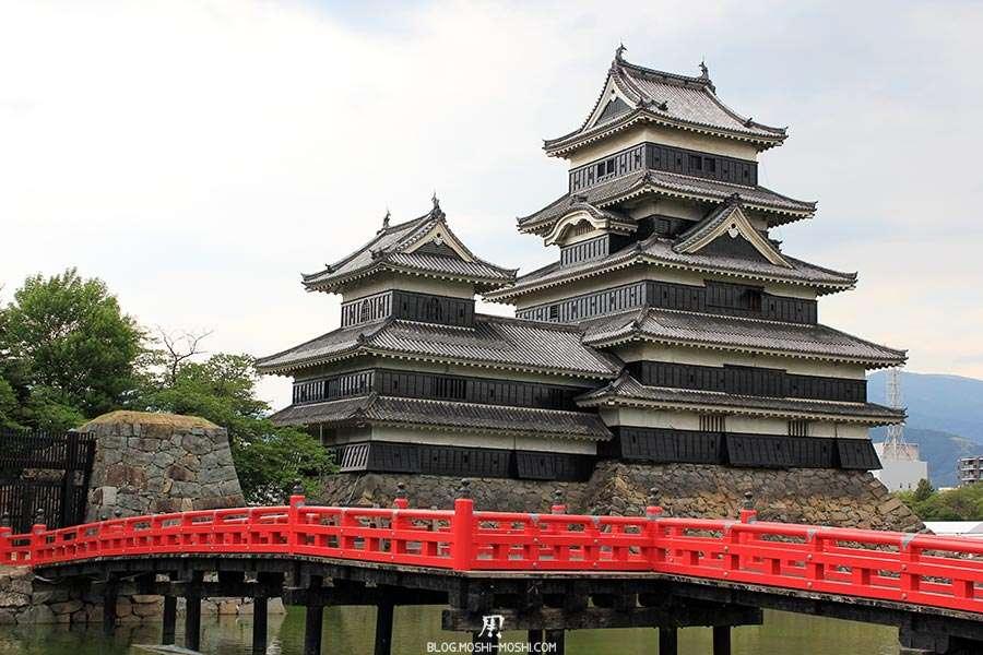 nagano-chateau-matsumoto-corbeau-noir-pont-rouge-gros-plan