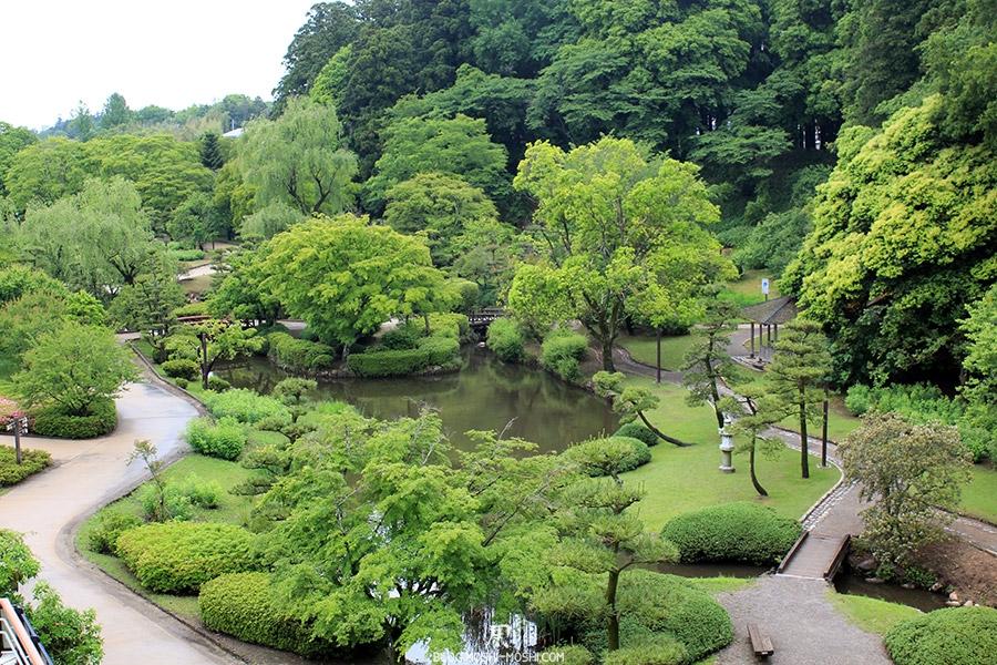 kairakuen jardin-japonais-kairaku-en-cote-jardin-japonais-vue-hauteur