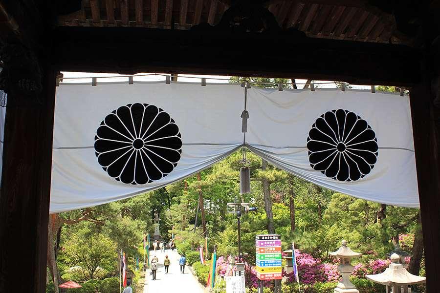 Nagano-temple-Zenko-ji-festival-Gokaicho-vue-jardin