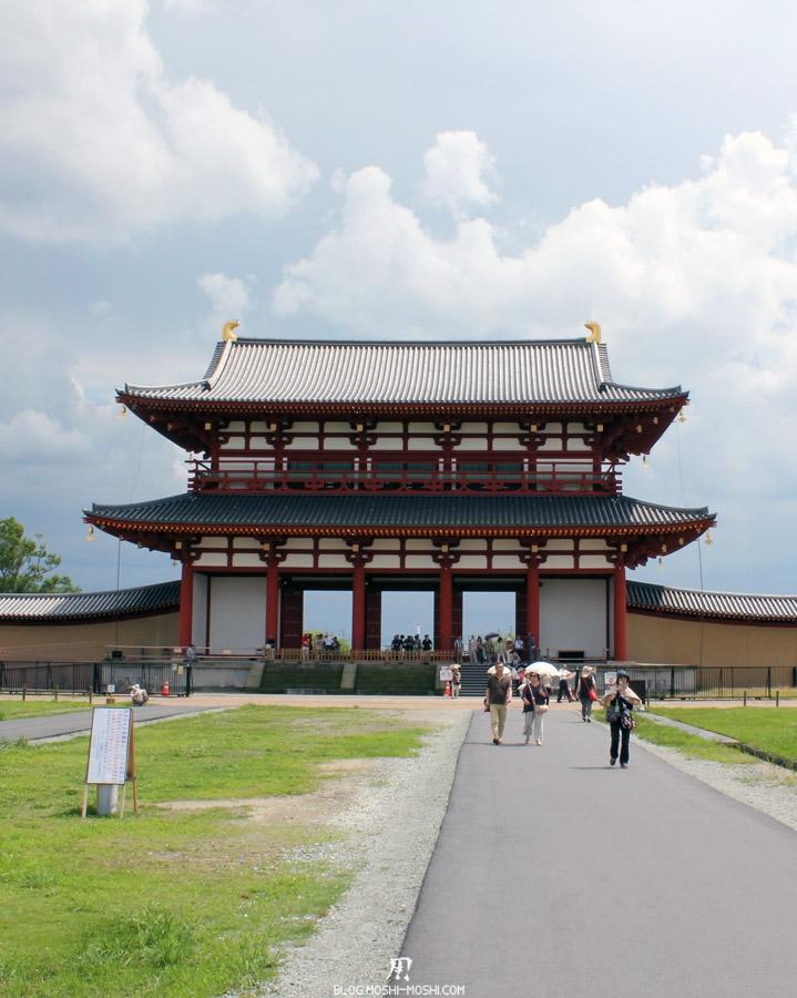 Nara-palais-heijo-porte-suzakumon-depart