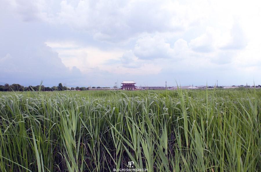 Nara-palais-heijo-premier-daigokuden-vue-lointaine-porte-suzakumon