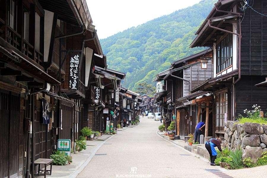 narai-juku-village-etape-nakasendo-vieilles-facades