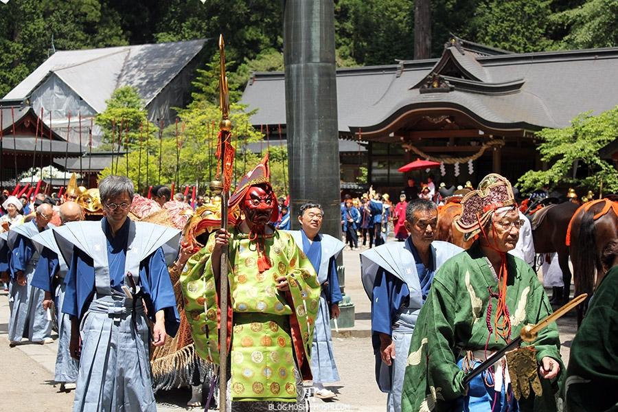 nikko-shunki-reitaisai-matsuri-grand-festival-de-printemps-guerrier-masque