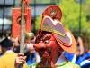 nikko-shunki-reitaisai-matsuri-grand-festival-de-printemps-masque-rouge-gros-plan