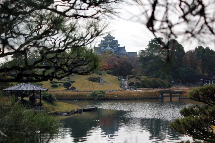 okayama-jardin-koraku-en-saison-momiji-chateau-entre-les-pins