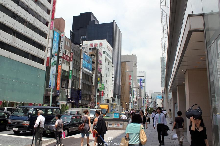 quartier-ginza-Tokyo-sac-sur-la-tete