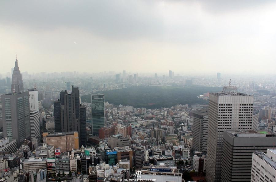 quartier-shinjuku-Tokyo-building-dernier-etage-vue-tokyo-parc